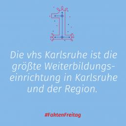 Instagram-Post: Die vhs Karlsruhe ist die größte Weiterbildungseinrichtung in Karlsruhe und der Region