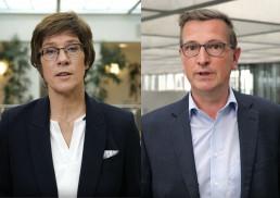 DVV-Präsidentin Annegret Kramp-Karrenbauer und DVV-Vorsitzender Martin Rabanus wenden sich in einer Videobotschaft an alle Volkshochschulen und deren Kursteilnehmer:innen
